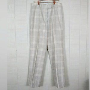 Pendleton Wool Trousers Pants Plaid Cream Beige